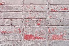 Gammal tappningGrey Red Brick Wall Texture bakgrund royaltyfri bild