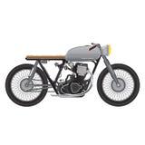 Gammal tappningmotorcykel, metallisk färg kaféracerbiltema Arkivfoto