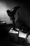 Gammal tappningskomakare Shoe Shop Fotografering för Bildbyråer