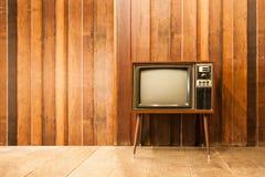 Gammal tappningtelevision eller tv Arkivbild