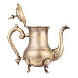 gammal teapot Royaltyfri Fotografi