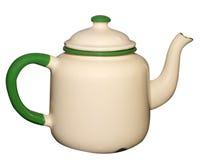 gammal teapot för emalj Arkivfoton