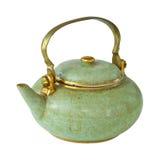 Isolerad gammal teapot Royaltyfria Bilder