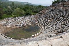 Gammal teater i den forntida staden Fotografering för Bildbyråer