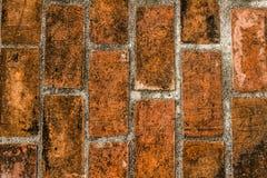 Gammal tegelsten för textur av bakgrund Royaltyfri Foto
