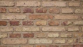 Gammal tegelstenbakgrund arkivbild
