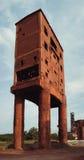 gammal tegelstenbyggnad Arkivfoto