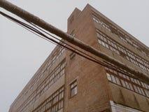 gammal tegelstenfabrik Fotografering för Bildbyråer