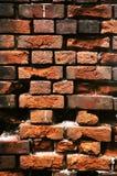Gammal tegelstenvägg. Royaltyfri Fotografi