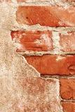 Gammal tegelstenvägg Arkivbilder
