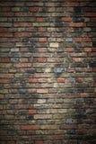 Gammal tegelstenvägg Fotografering för Bildbyråer