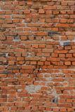 Gammal tegelstenvägg av röd tegelsten Royaltyfri Fotografi