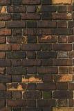 Gammal tegelstenvägg, bakgrundsbild Royaltyfria Foton