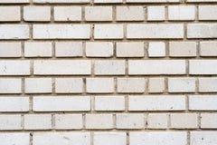 Gammal tegelstenvägg för silver Royaltyfri Foto