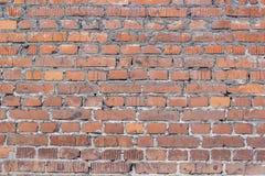 Gammal tegelstenvägg för textur Royaltyfria Bilder