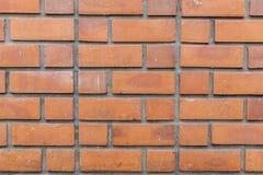 Gammal tegelstenvägg för texturbakgrund fotografering för bildbyråer