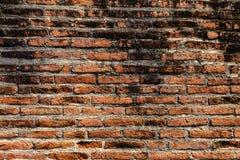 Gammal tegelstenvägg i en bakgrundsbild Royaltyfria Foton