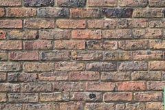 Gammal tegelstenvägg i London Royaltyfri Foto