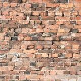 Gammal tegelstenvägg som abstrakt bakgrund Royaltyfri Bild