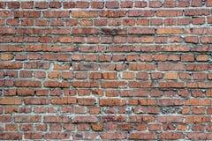 Gammal tegelstenvägg som en bakgrund eller en textur arkivbilder
