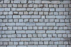 Gammal tegelstenvägg, textur, bakgrund. Royaltyfria Foton