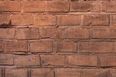 Gammal tegelstenvägg, textur, bakgrund. Royaltyfri Bild