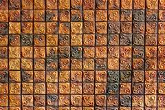 Gammal tegelstenväggtextur Arkivfoton