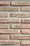 Gammal tegelstenväggtextur Arkivfoto