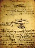 Gammal teknikteckning Arkivbild