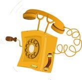 gammal telefon royaltyfri illustrationer