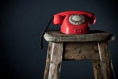 gammal telefon Fotografering för Bildbyråer