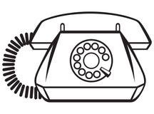 Gammal telefon stock illustrationer