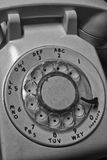 Gammal telefon - antik telefondropp för roterande visartavla Arkivbilder