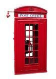 gammal telefon för ask Arkivbilder