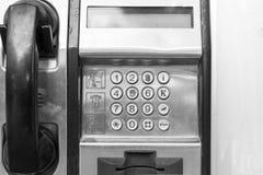 gammal telefon för bås Arkivfoton