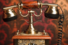 gammal telefon för fragment Arkivbilder