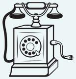 Gammal telefon för tappning stock illustrationer