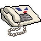 Gammal telefon för vektorPIXELkonst royaltyfri illustrationer