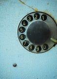 gammal telefon för visartavla Royaltyfri Bild