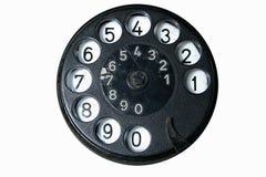 gammal telefon för visartavla arkivfoton