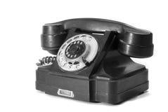 gammal telefon för visartavladiskett arkivbilder