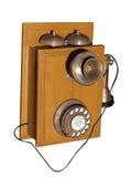 gammal telefon mycket arkivfoto