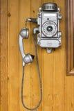 Gammal telefon, retro gammal telefon Royaltyfria Bilder