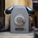 Gammal telefon, retro stil för tappningtelefon Arkivfoton