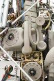 Gammal telefonutrustning Arkivbilder