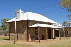 Gammal telegrafstation, Alice Springs, Australien Fotografering för Bildbyråer