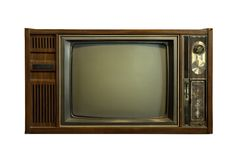 gammal television Arkivbilder