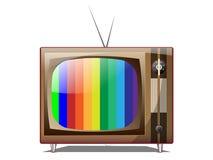Gammal television royaltyfri illustrationer