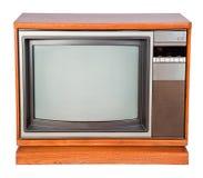 gammal television för konsol royaltyfria bilder