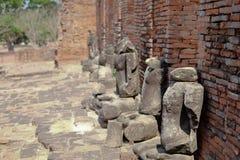 Gammal tempel för forntida tegelsten Fotografering för Bildbyråer